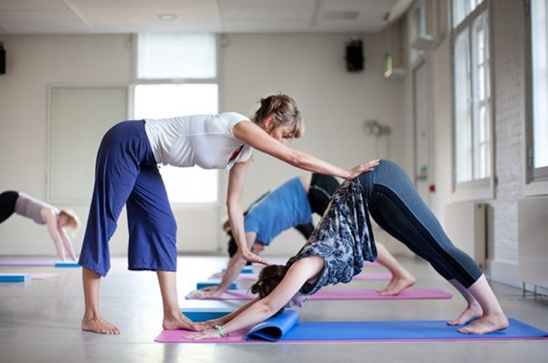Promotional image for Yoga classes.