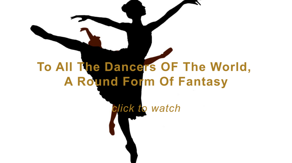 Two clip art ballerinas, layered on top of each other in black and brown. Click the image to play the slideshow.
