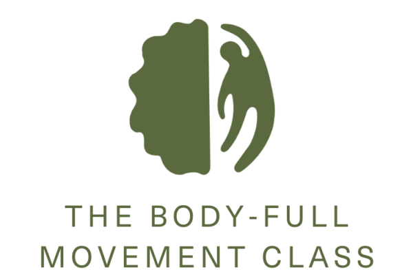 White background with The Body Full Movement Class logo in light green: half a brain with a body figure as the right side of the brain.