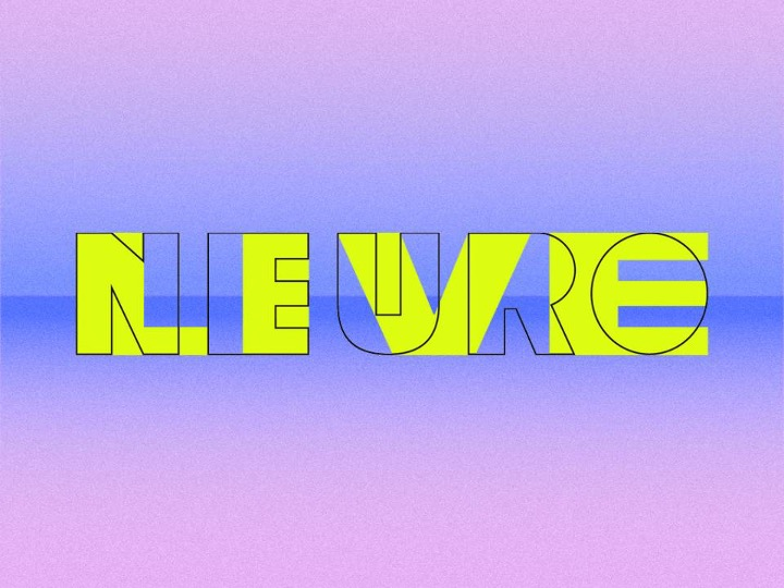 NEUROLIVE logo: the words NEURO & LIVE intersecting with one another on a blue/purple gradient background
